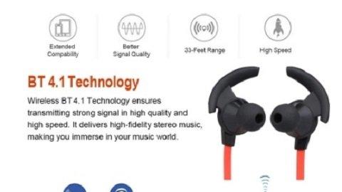 Wireless BT 4.1 In-ear Sport Earphone