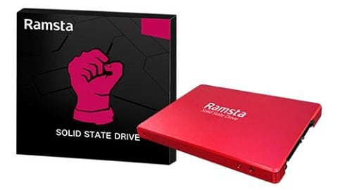 Ramsta S800 480GB SATA3 High Speed SSD (Red) + ORICO USB 3.0 SSD/HDD  Case