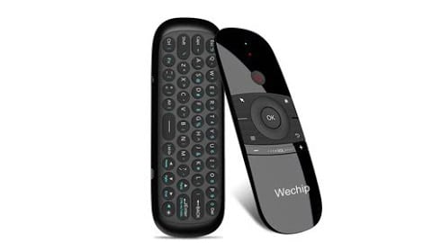 Wechip W1 Wireless QWERTY Keyboard Air Mouse Remote Control