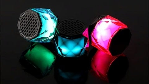 G1130 Mini Portable BT 4.2 Speaker with Mic (LED Light / Subwoofer / Hands-free)