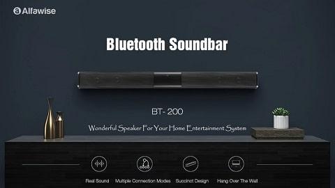 Alfawise BT - 200 Portable Wireless Bluetooth Soundbar - BLACK