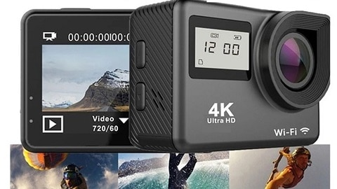 4K WiFi Touchscreen Action Camera (Dual Screen Ultra HD 30M Waterproof)