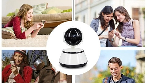 Home Video Camera 720P HD WiFi Wireless APP Control IR Night Vision Camcorder