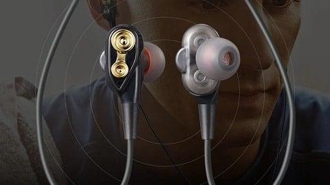 Double Dynamics BT Earphone Wireless Headset Headphones with Mic