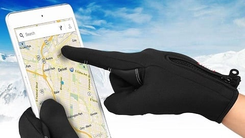Winter Leather Gloves & Mittens Driving TouchScreen Gloves