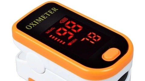 Household Finger Pulse Oximeter (Lightweight Portable Blood Oxygen SpO2 Monitor)