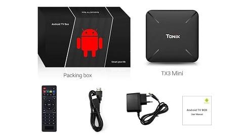 Tanix TX3 Mini L TV Box - BLACK 2GB RAM + 16GB ROM EU