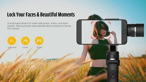 Alfawise AS01 3-axis Intelligent Handheld Gimbal - BLACK
