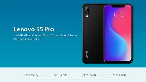 Lenovo S5 Pro 4G Phablet Global Version 6GB RAM - BLACK