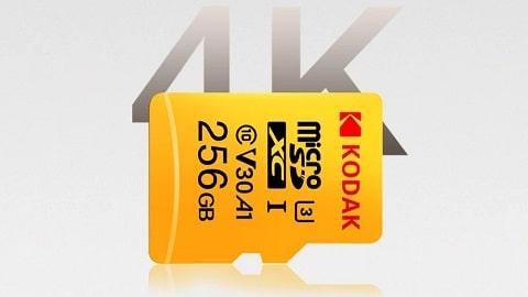 Kodak Micro SD Card 64GB TF Card U3 A1 V30 Memory Card 100MB/s Reading