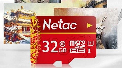 Netac 32GB MicroSD Memory Card U1 C10