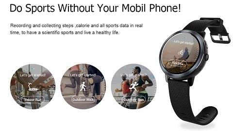 LEMFO LEM8 Smart Watch Men Watch (LTE 4G -2GB 16GB)