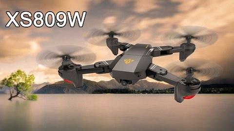 VISUO XS809W Wifi FPV 0.3MP Camera Foldable 2.4G 6-Axis Gyro Selfie Drone RC