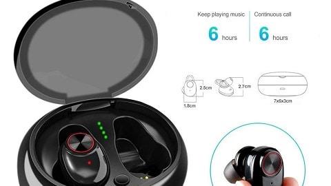 V5 TWS Bluetooth 5.0 Wireless Earphones Earbuds Stereo Bass Headphones Mic