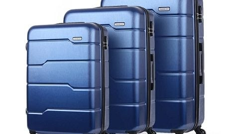 """TOMSHOO Luxury 3PCS Spinner Luggage Set Hard Shell 20""""/24""""/28"""""""