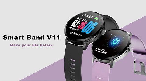 V11 Smart Watch (Sport Track Heart Rate Blood Pressure Sleep Monitor)