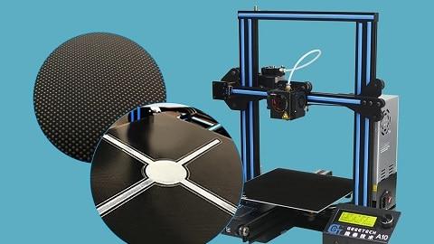 Geeetech A10 3D Printer Kit High Precision 3D Printer (Upgraded Version)