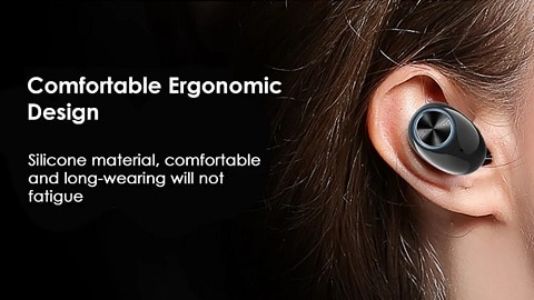 V6 TWS Mini Headphones Ture Wireless V5.0 In-Ear Earphone Stereo Headset with Power Bank