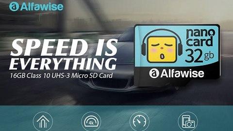 Alfawise High Speed High Capacity Waterproof Micro SD Card - Multi 32G