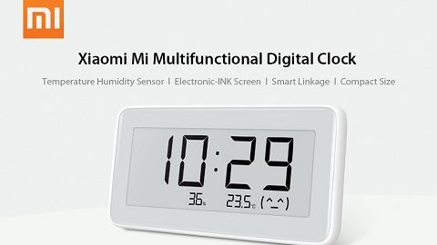 Original Xiaomi Mi Multifunctional Digital Clock Electronic-INK Screen Temperature Humidity Sensor