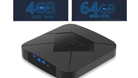 VORKE Z7 Allwinner H6 Android 9.0 4GB/64GB 6K TV Box WiFi LAN USB3.0