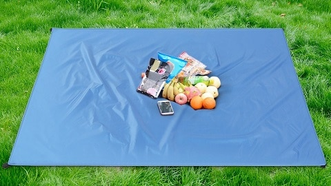 Waterproof Pocket Beach Blanket Lightweight Compact Outdoor Picnic