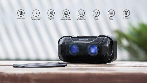 Tronsmart Element Blaze Bluetooth Speaker IPX6 Water-Resistant Superior Bass LED Lights