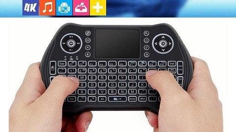 Backlit 2.4GHz Wireless Keyboard Touchpad Mouse Handheld Remote Control