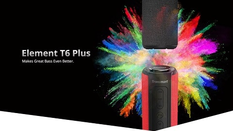 Tronsmart Element T6 Plus Portable Bluetooth 5.0 Speaker with 40W Max Output