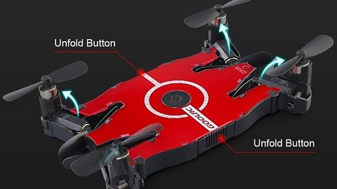 GoolRC T49 6-Axis Gyro WIFI FPV 720P HD Camera Quadcopter Foldable Drone