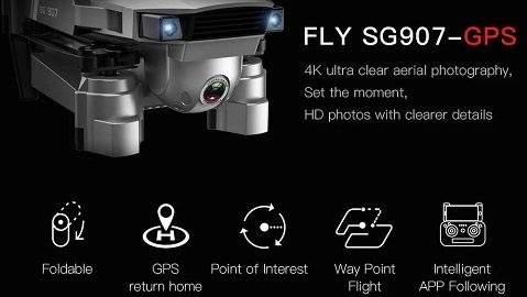 GOOLRC SG907 GPS 5G WIFI 4K RC Drone with Dual Camera