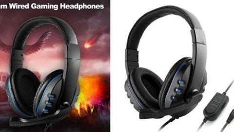 3.5mm Wired Gaming Headphones Over Ear Game Headset