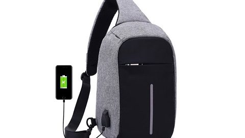 Anti-theft Sling Shoulder Bag with External USB Charge