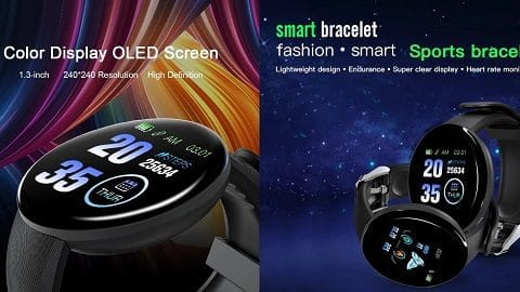 D18 1.3-inch Touch Smart Bracelet Smart Sports Watch