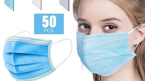 50Pcs Disposable Face Mask PPE with CE FFP2 Report