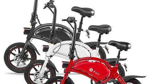 DYU D3+14 Inch Folding Power Assist Electric Bicycle