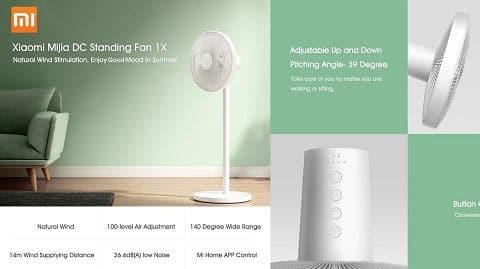 Xiaomi Mijia DC Standing Fan 1X (έξυπνος ανεμιστήρας)