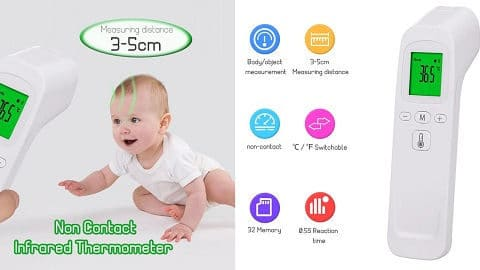 Non-Contact Forehead Thermometer Digital Handheld Infrared Thermometer