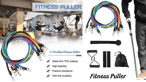 Set 11 τεμαχίων Fitness Puller Multi-functional Muscle Strength