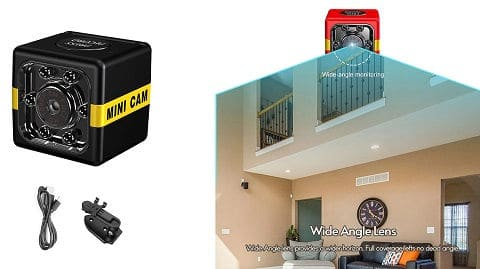 Mini Security Small 1080P Camera (Night Vision and Motion Detection)