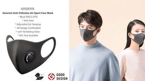 Xiaomi Smartmi Face Mask μαζί με 50 φίλτρα