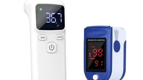Touchless IR Thermometer and Digital Fingertip Pulse Oximeter