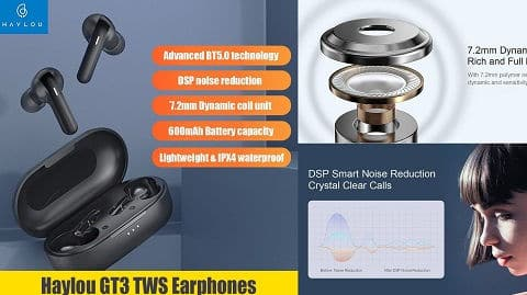 Haylou GT3 TWS In-Ear Earphones with Touch Control