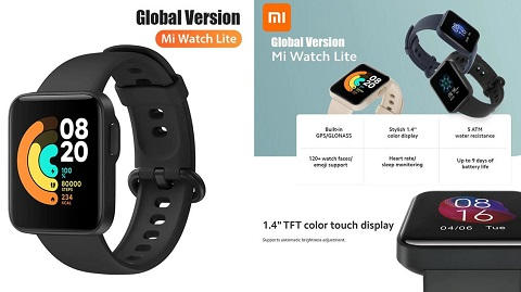 Xiaomi Mi Watch Lite (Global Version - Fitness Tracker Smartwatch)