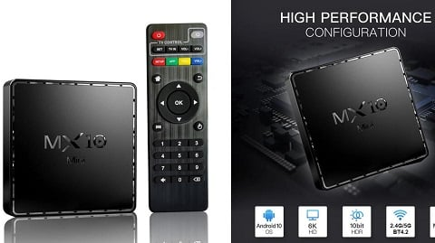 MX10 Mini Android 10.0 Smart TV Box (4GB / 32GB Allwinner H616 UHD 4&6K)