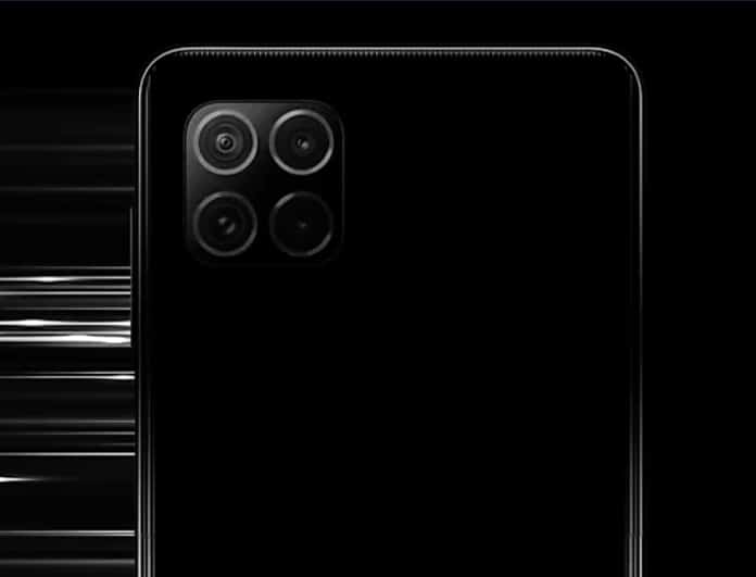 Rear of Galaxy F62 Teaser