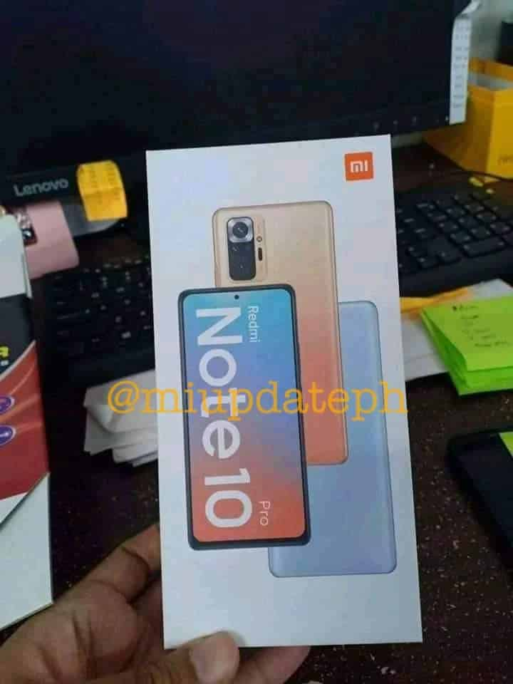Leaked Photo of Redmi Note 10 Pro
