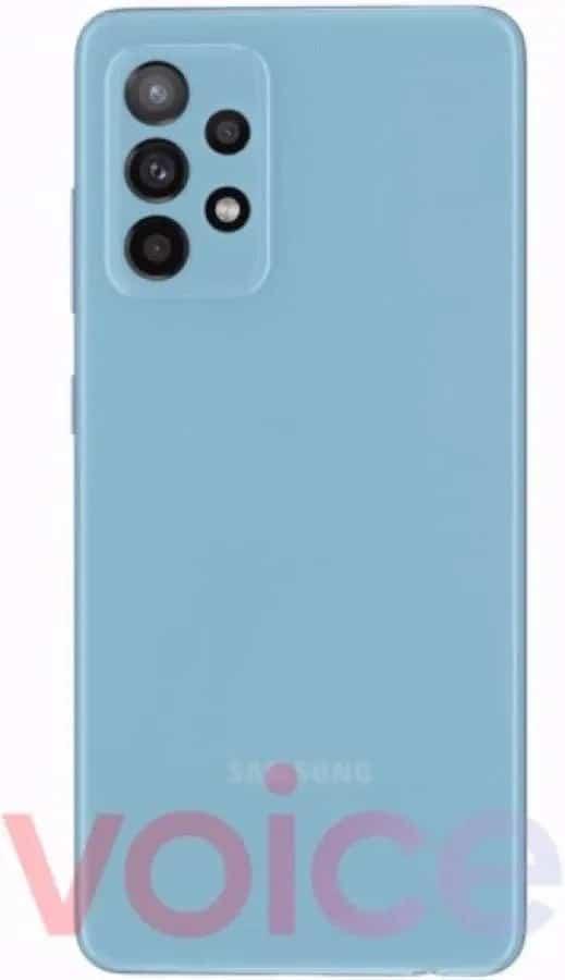 Ένα από τα χρώματα του Galaxy A52 5G (Awesome Blue)