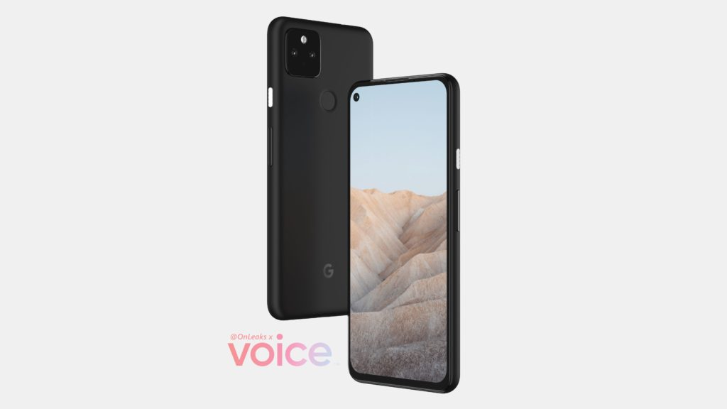 Pixel 5a Render by Voice