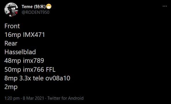 OnePlus 9 Pro Camera Leak